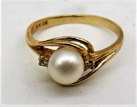 10K Gold ring Pearl