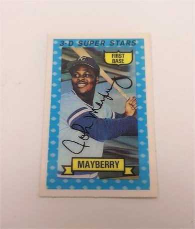 John Mayberry Kansas City Royals #29 3D Signed Baseball Card
