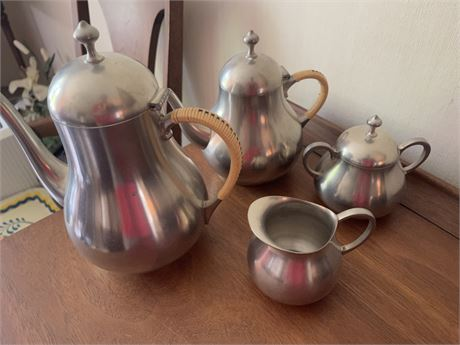 Pewter Cream/Sugar  Coffee and Tea set made in Holland
