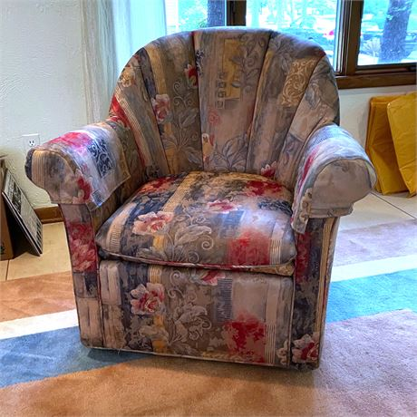 Vintage Swivel Barrel Chairs