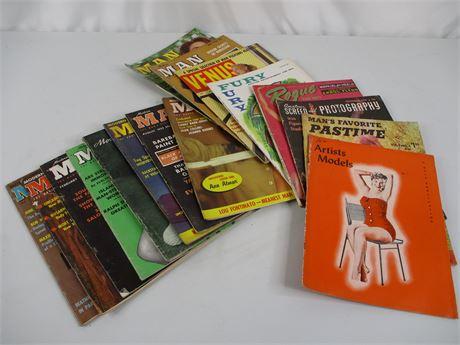 Lot of 16 Vintage Men's Pinup Magazines (50's & 60's)