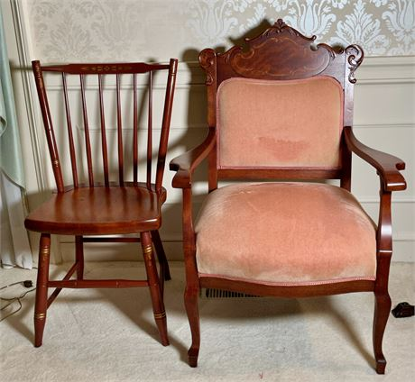 Victorian and Hitchcock Chairs