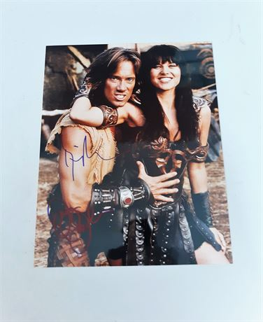 Hercules and Zena Warrior Princess Signed 8x10 Photo w/COA