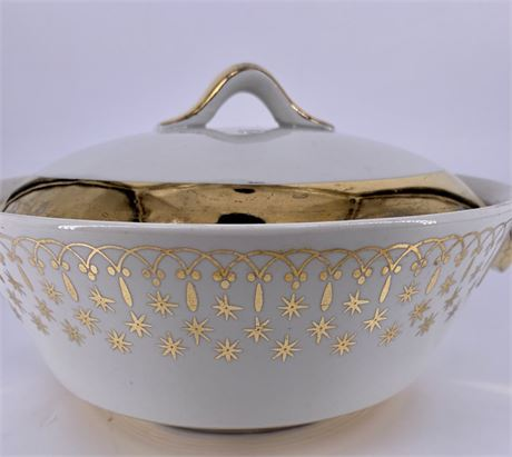 MCM Vintage Flameware Casserole Dish By Hall China