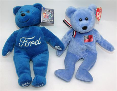 FORD & Ty Beanie Babies