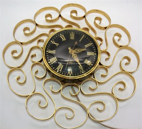 Mid Century clock Telechron GE