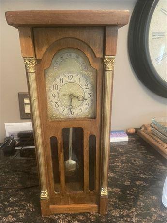 United metal goods mini grandfather clock