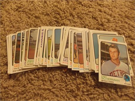 1973 Topps baseball cards - lot of 42 different  EX/MT
