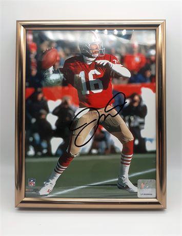 Joe Montana 49ers Signed Framed 8x10 Photo w/COA