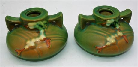 ROSEVILLE candlestick holders