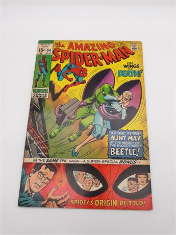 Amazing Spider-Man 94 Beetle! Origin Retold 1971 Marvel Comics