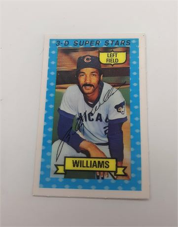 Billy Leo Williams Chicago Cubs #32 3D Super Star Signed Baseball Card