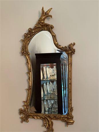 Rococo Style Mirror with Bird