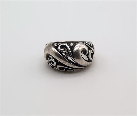 Sterling Silver 7 Grams Gold Ring Size 6