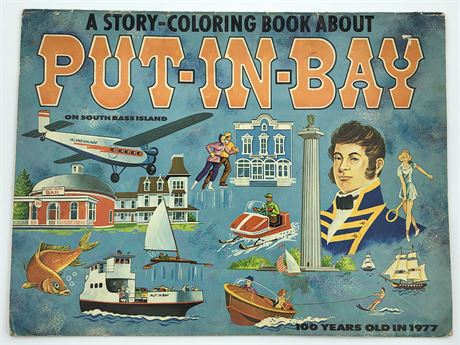 Vintage Ohio Put-in-Bay South Bass island Illustrated Story Book / Coloring Book