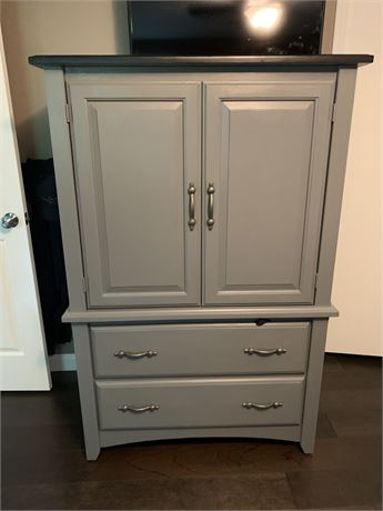 Dresser/Armoire Painted Gray & Black