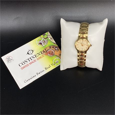 Continental 18K Gold 3M electroplated 5175 Ladies Watch