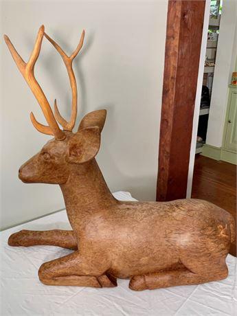 Carved Burlwood Deer