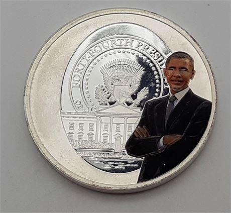 President Barrack Obama 1 Ounce Silver Coin