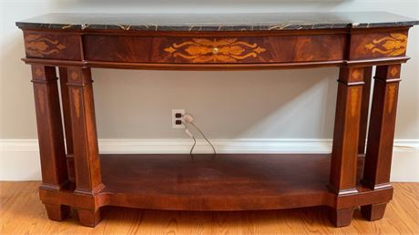 Henredon Marble Top Console Table
