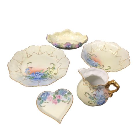 Lot of Floral Pattern China Collectibles