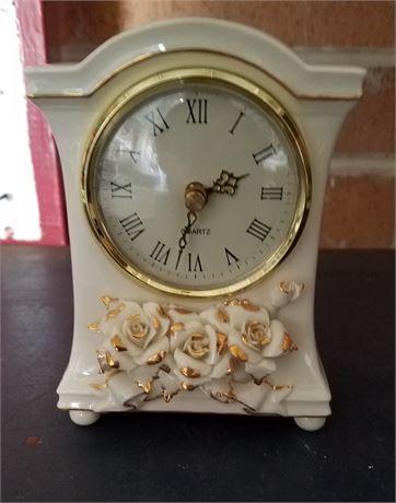 "Avon Porcelain Clock 6.5"" tall"