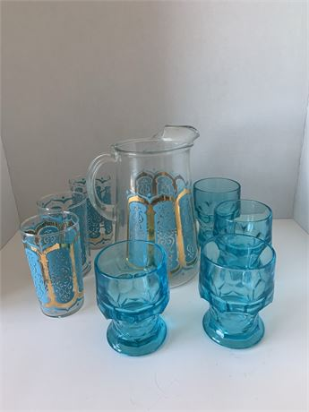 Pitcher and matching glasses