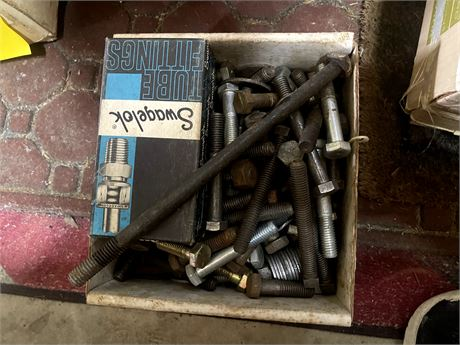 """Box of 1/2"""" Bolts and Nuts"""