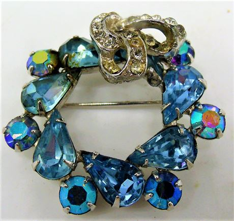 Signed Weiss brooch pin