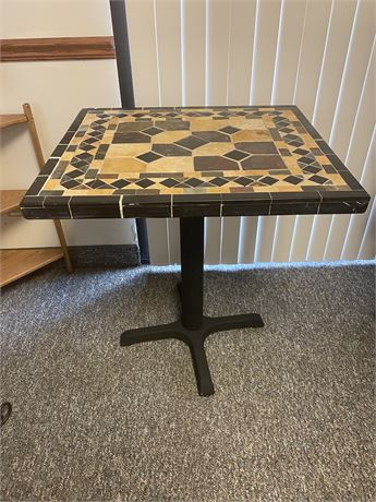 Hand Made Tiled Bistro Table