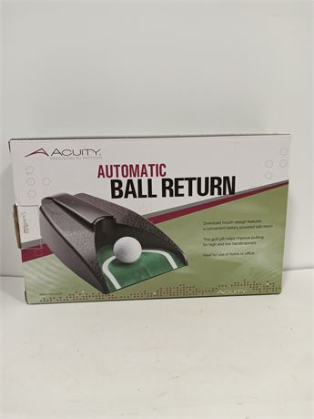 Acuity Golf Ball Return- battery operated