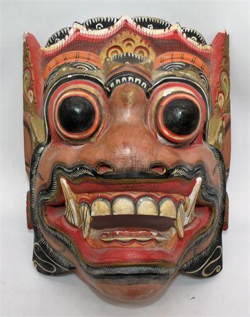 Carved tribal mask 3D
