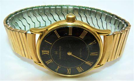 Black Dial Hamilton watch
