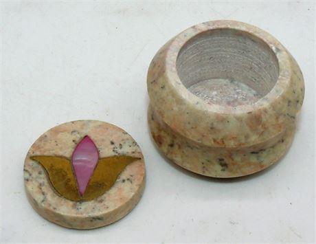 Inlay stone ring box