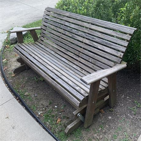 Amish Made Wooden Patio Glider