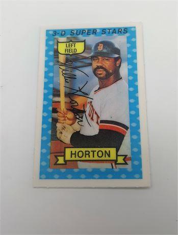 Willie Horton Detroit Tigers #23 3D Super Star Signed Baseball Card