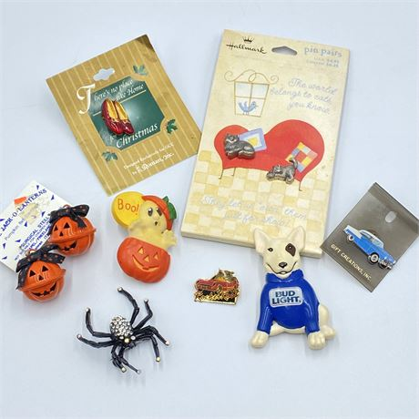 Vintage Halloween and Novelty Brooches, Pins and Earrings with Spud McKenzie