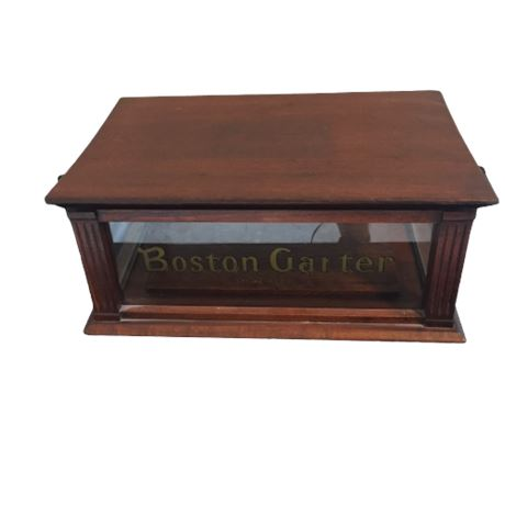 Antique Boston Garter Counter Top Display Case