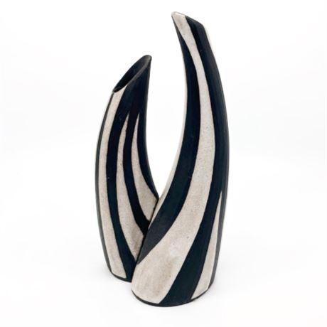 "Marianne Starck ""Tribal"" Series Double Vase No. 7178"