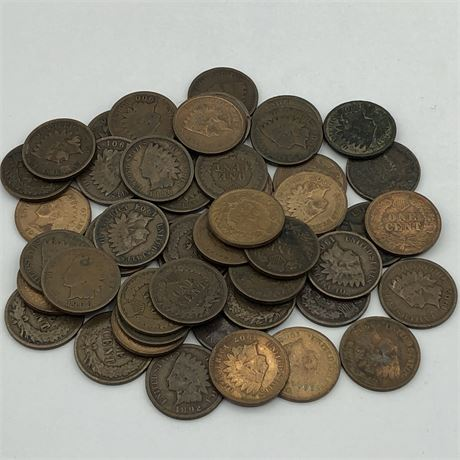 Indian Head Cent Coin Lot Mixed Date Collection of Indian Head Cents