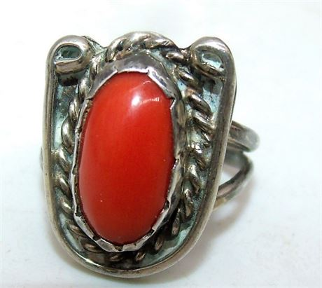 Sterling Coral ring