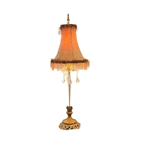 Crystal Candlestick Accent Lamp