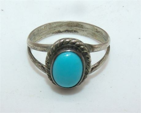 Indian Sterling Turquoise ring