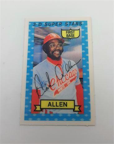 Richard Allen Chicago White Sox #33 3D Super Star Signed Baseball Card