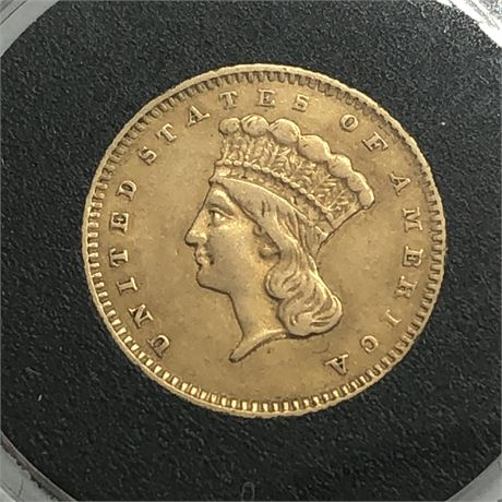 1856 US $1 Type 3 Gold Coin