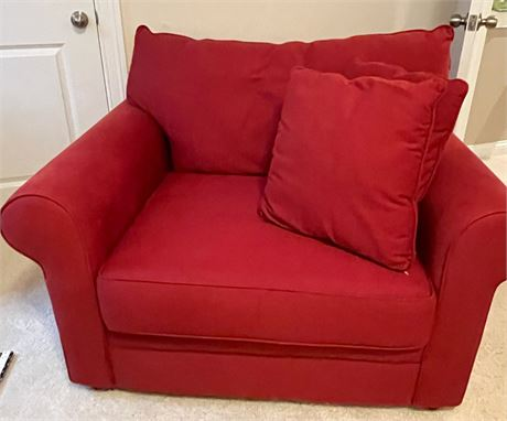Over Sized Red Chair