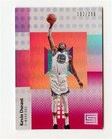 KEVIN DURANT 2017-18 PANINI STATUS 192/299 #49 GOLDEN STATE WARRIORS