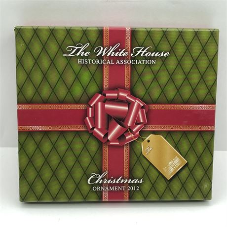 2012 US White House Presidential Christmas Ornament in Original Box Marriage