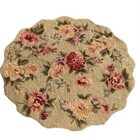 Decorative Floral Accent Rug