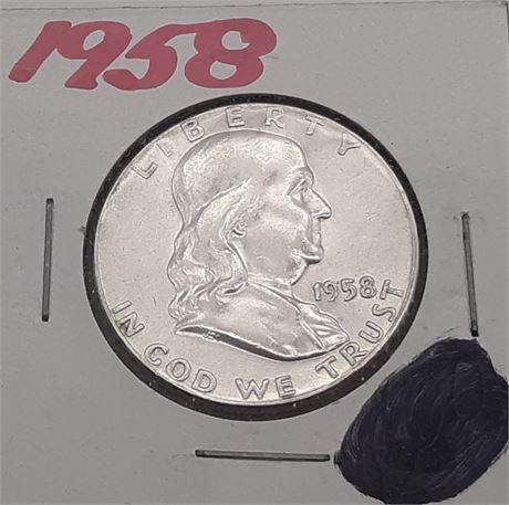1958 Franklin Liberty Half Dollar